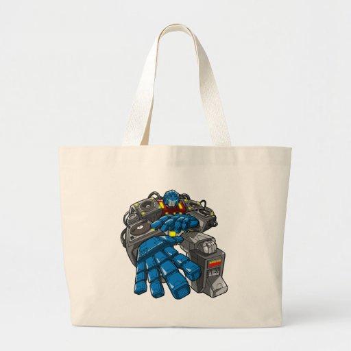 Hip Hop Robot Canvas Bags