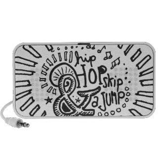 Hip Hop Skip Jump 1 Notebook Speakers