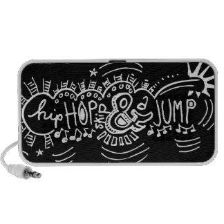 Hip Hop Skip Jump 4 Mini Speakers