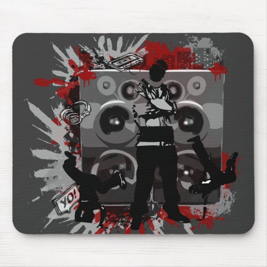 Hip Hop Speakers Mouse Pad