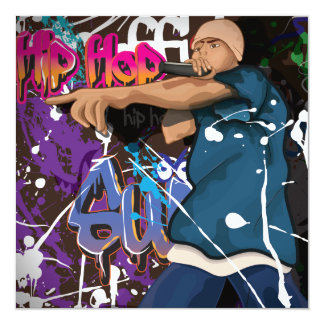 Hip Hop Star 13 Cm X 13 Cm Square Invitation Card