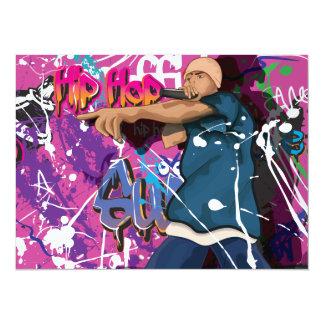 Hip Hop Star 14 Cm X 19 Cm Invitation Card