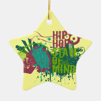 Hip Hop State of Mind Christmas Ornament