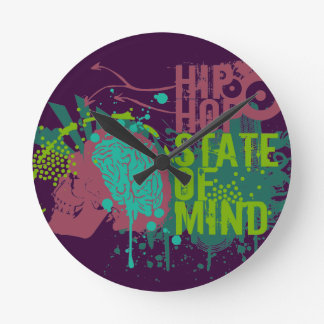 Hip Hop State of Mind Wall Clock