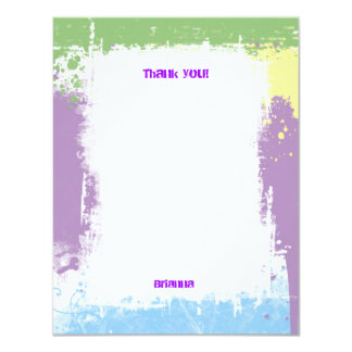 Hip Hop Sweet Pastel Grunge Thank You Note 11 Cm X 14 Cm Invitation Card