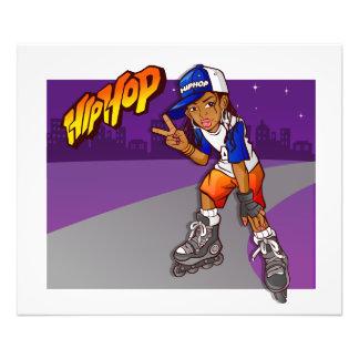 Hip Hop Teenage Skater Cartoon Art Photo