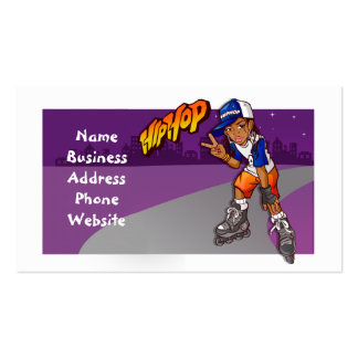 Hip Hop Teenage Skater Cartoon Double-Sided Standard Business Cards (Pack Of 100)