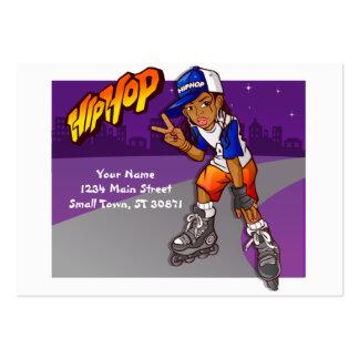 Hip Hop Teenage Skater Cartoon Pack Of Chubby Business Cards