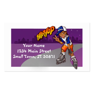 Hip Hop Teenage Skater Cartoon Pack Of Standard Business Cards