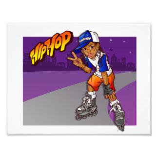 Hip Hop Teenage Skater Cartoon Photo