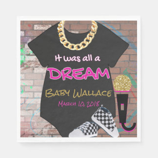 Hip Hop Throwback {Girl} Baby Shower Napkin Disposable Napkins