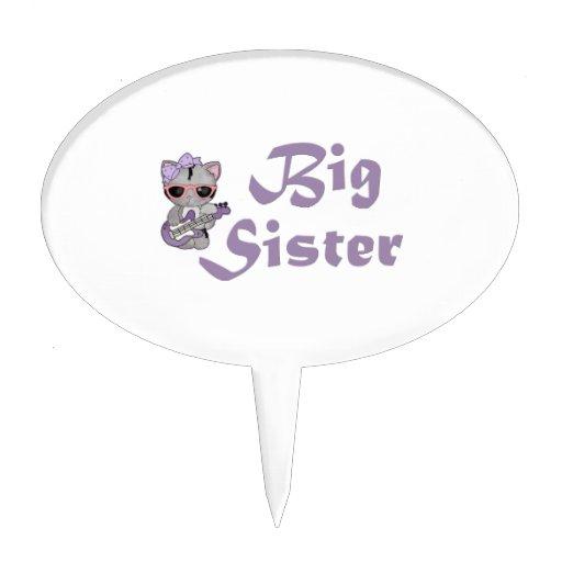 Hip Kitty Big Sister 3 Cake Topper