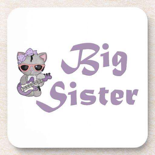 Hip Kitty Big Sister 3 Coasters