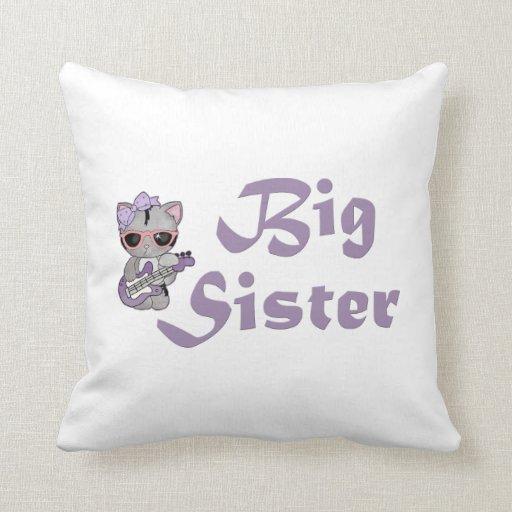 Hip Kitty Big Sister 3 Pillows