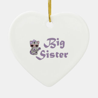 Hip Kitty Big Sister 3 Ceramic Heart Decoration