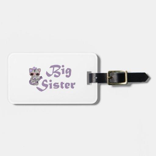 Hip Kitty Big Sister 3 Luggage Tag