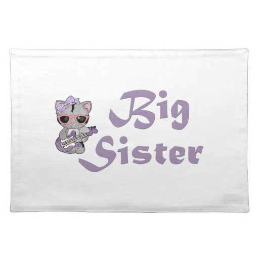 Hip Kitty Big Sister 3 Placemats