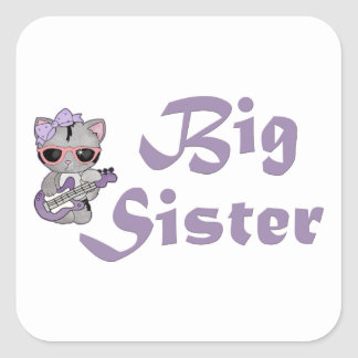 Hip Kitty Big Sister 3 Square Sticker