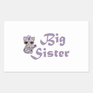 Hip Kitty Big Sister 3 Rectangular Sticker