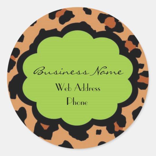 Hip Lepord Business Sticker - Customisable