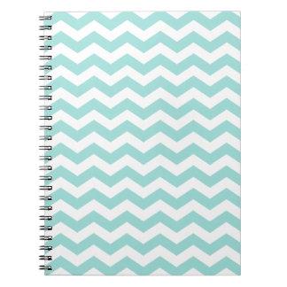Hip Light Aqua Chevron Notebook