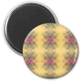 Hip modern Neutral Pastel Abstract Pattern 6 Cm Round Magnet