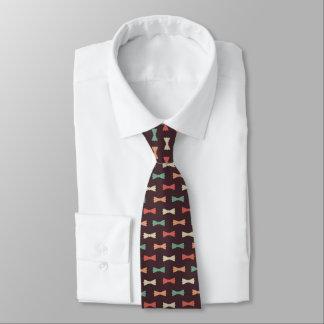 Hip Multicolor Bowties On Dark Brown Tie