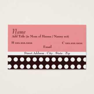 Hip Pink and Brown Mommy Card