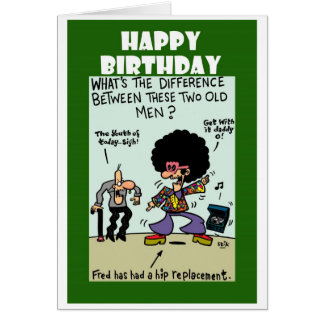 Hip Replacement Greeting Card