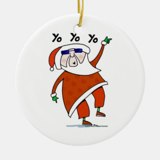 Hip Santa Christmas Ornament