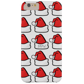 Hip Santa Claus Hat Pick Color Optional Initials Barely There iPhone 6 Plus Case