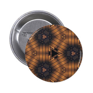 Hip Shades of brown connections Pattern 6 Cm Round Badge