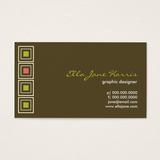 Hip to be Square Chocolate Business Card