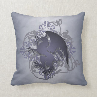 Hip Urban Fantasy Silver Griffin Pillow