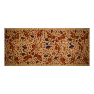 Hip wrapper Kain Panjang Pattern Poster