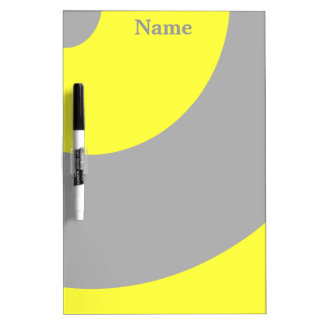 Hip Yellow and Grey Dry Erase Board