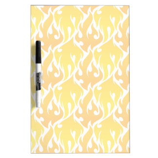 Hip Yellow Flames pattern Dry-Erase Board