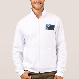 Hip Zip Abstract Lightweight Sweat Jacket