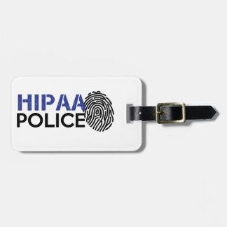 HIPAA Police Luggage Tag
