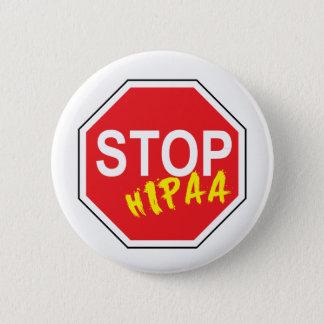 HIPAA STOP 6 CM ROUND BADGE