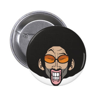 Hiphop Afro man 6 Cm Round Badge