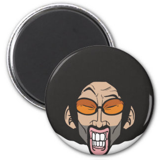 Hiphop Afro man 6 Cm Round Magnet