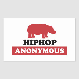 HipHop Anonymous Rectangular Sticker