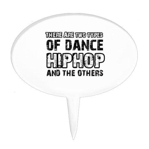 Hiphop dancing designs cake picks