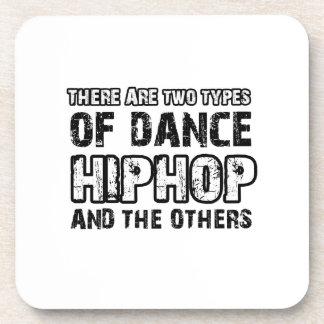 Hiphop dancing designs drink coasters