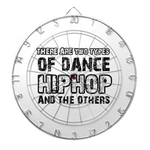 Hiphop dancing designs dartboard with darts