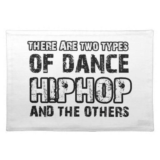Hiphop dancing designs placemats