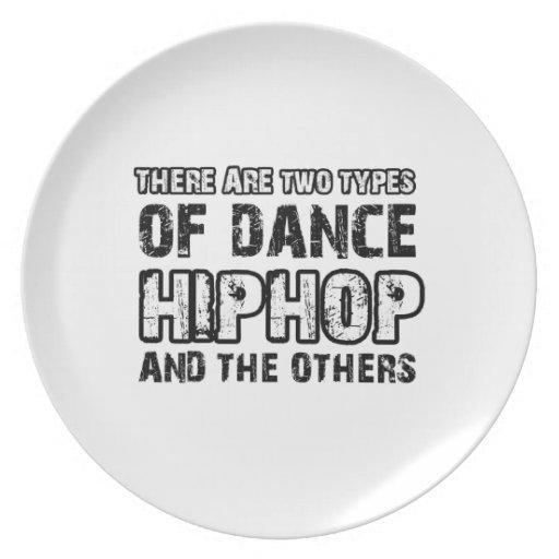 Hiphop dancing designs party plates
