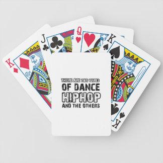 Hiphop dancing designs card deck