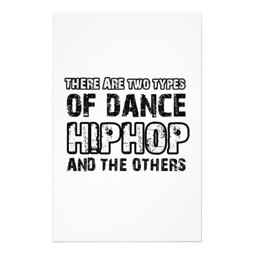 Hiphop dancing designs custom stationery